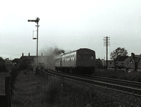 DMU passing through starbeck 1982