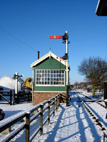 Former Muston signal box now at Murton 2006