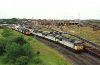 Class 56's in storage at Thornaby shed 2003